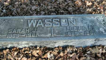 WASSON, LUCIUS H. - Boone County, Arkansas | LUCIUS H. WASSON - Arkansas Gravestone Photos