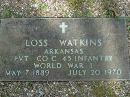 WATKINS  (VETERAN WWI), LOSS - Boone County, Arkansas | LOSS WATKINS  (VETERAN WWI) - Arkansas Gravestone Photos