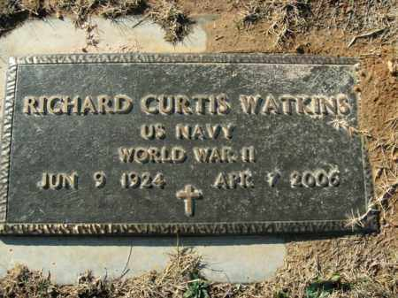 WATKINS  (VETERAN WWII), RICHARD CURTIS - Boone County, Arkansas | RICHARD CURTIS WATKINS  (VETERAN WWII) - Arkansas Gravestone Photos