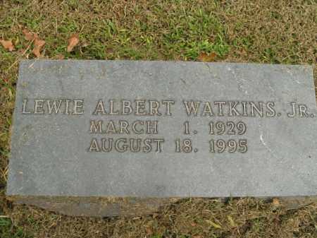WATKINS, LEWIE ALBERT, JR - Boone County, Arkansas | LEWIE ALBERT, JR WATKINS - Arkansas Gravestone Photos