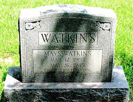 WATKINS, MAYS - Boone County, Arkansas | MAYS WATKINS - Arkansas Gravestone Photos