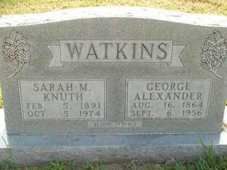 KNUTH WATKINS, SARAH M. - Boone County, Arkansas | SARAH M. KNUTH WATKINS - Arkansas Gravestone Photos