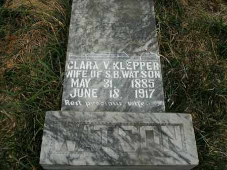 KLEPPER WATSON, CLARA V. - Boone County, Arkansas | CLARA V. KLEPPER WATSON - Arkansas Gravestone Photos