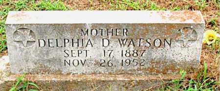 WATSON, DELPHIA D - Boone County, Arkansas   DELPHIA D WATSON - Arkansas Gravestone Photos