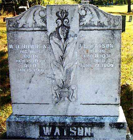 BOWDEN WATSON, W. D. - Boone County, Arkansas | W. D. BOWDEN WATSON - Arkansas Gravestone Photos