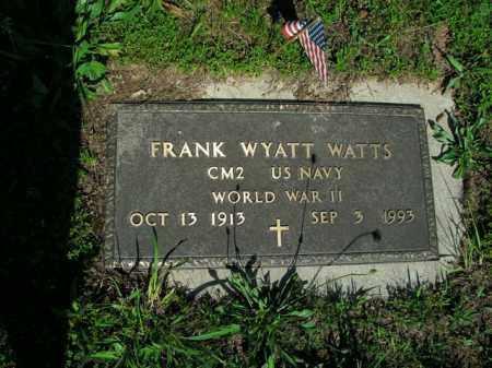 WATTS  (VETERAN WWII), FRANK WYATT - Boone County, Arkansas | FRANK WYATT WATTS  (VETERAN WWII) - Arkansas Gravestone Photos