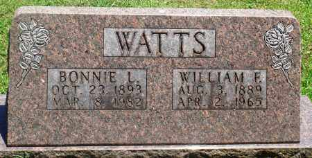 WATTS, WILLIAM F - Boone County, Arkansas | WILLIAM F WATTS - Arkansas Gravestone Photos
