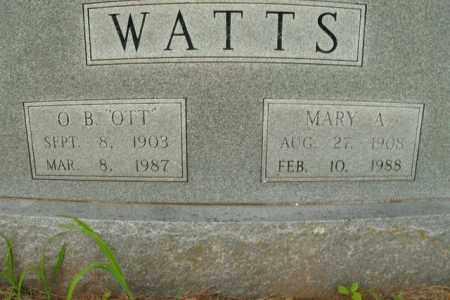 WATTS, MARY A. - Boone County, Arkansas | MARY A. WATTS - Arkansas Gravestone Photos