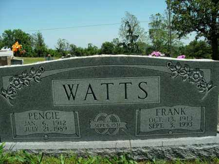 WATTS, FRANK - Boone County, Arkansas | FRANK WATTS - Arkansas Gravestone Photos