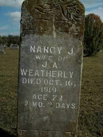 WEATHERLY, NANCY J. - Boone County, Arkansas | NANCY J. WEATHERLY - Arkansas Gravestone Photos