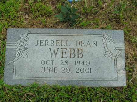 WEBB, JERRELL DEAN - Boone County, Arkansas   JERRELL DEAN WEBB - Arkansas Gravestone Photos