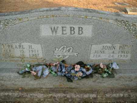 WEBB, JOHN P. - Boone County, Arkansas | JOHN P. WEBB - Arkansas Gravestone Photos