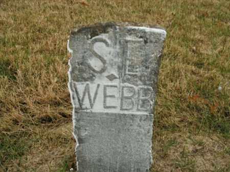 WEBB, S.E. - Boone County, Arkansas | S.E. WEBB - Arkansas Gravestone Photos