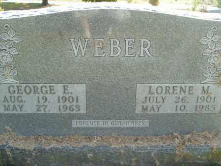 WEBER, GEORGE E. - Boone County, Arkansas   GEORGE E. WEBER - Arkansas Gravestone Photos