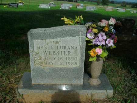 WEBSTER, MABEL LURANA - Boone County, Arkansas | MABEL LURANA WEBSTER - Arkansas Gravestone Photos