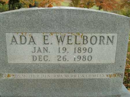 WELBORN, ADA E. - Boone County, Arkansas   ADA E. WELBORN - Arkansas Gravestone Photos