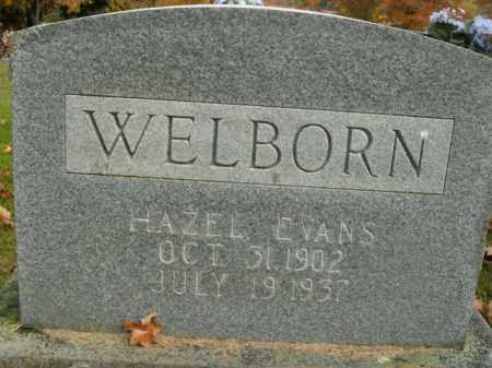 EVANS WELBORN, HAZEL - Boone County, Arkansas | HAZEL EVANS WELBORN - Arkansas Gravestone Photos