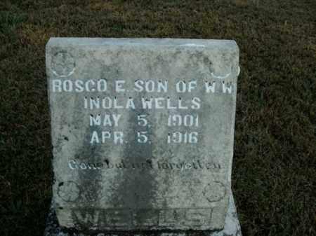 WELLS, ROSCO E. - Boone County, Arkansas   ROSCO E. WELLS - Arkansas Gravestone Photos