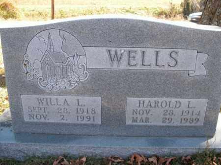 WELLS, HAROLD L. - Boone County, Arkansas   HAROLD L. WELLS - Arkansas Gravestone Photos