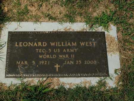 WEST  (VETERAN WWII), LEONARD WILLIAM - Boone County, Arkansas | LEONARD WILLIAM WEST  (VETERAN WWII) - Arkansas Gravestone Photos
