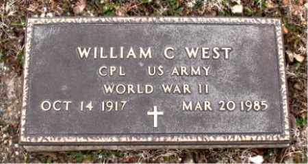 WEST   (VETERAN WWII), WILLIAM C - Boone County, Arkansas | WILLIAM C WEST   (VETERAN WWII) - Arkansas Gravestone Photos