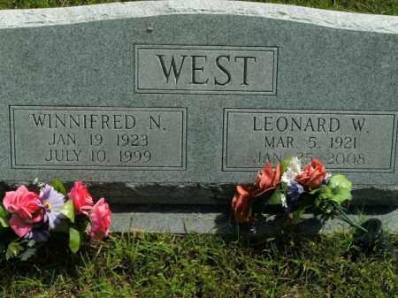 WEST, LEONARD W. - Boone County, Arkansas   LEONARD W. WEST - Arkansas Gravestone Photos