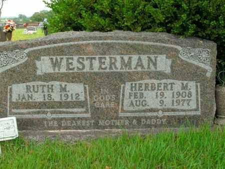 WESTERMAN, HERBERT M. - Boone County, Arkansas | HERBERT M. WESTERMAN - Arkansas Gravestone Photos