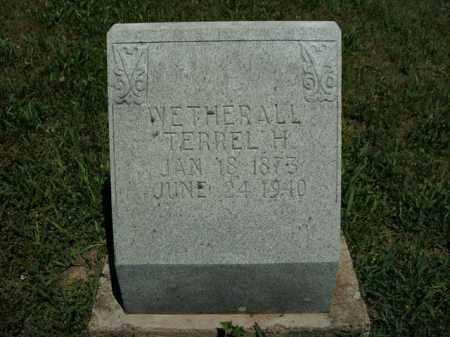 WETHERALL, TERREL H. - Boone County, Arkansas   TERREL H. WETHERALL - Arkansas Gravestone Photos