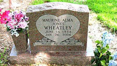 JONES WHEATLEY, MAURINE ALMA - Boone County, Arkansas | MAURINE ALMA JONES WHEATLEY - Arkansas Gravestone Photos