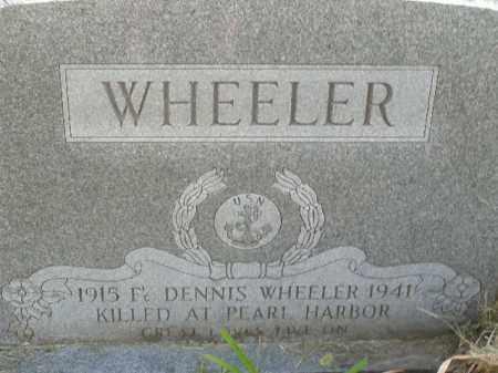 WHEELER  (VETERAN WWII, KIA), JOHN DENNIS - Boone County, Arkansas | JOHN DENNIS WHEELER  (VETERAN WWII, KIA) - Arkansas Gravestone Photos
