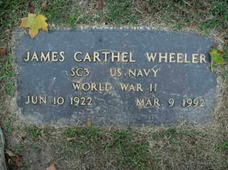 WHEELER  (VETERAN WWII), JAMES CARTHEL - Boone County, Arkansas   JAMES CARTHEL WHEELER  (VETERAN WWII) - Arkansas Gravestone Photos