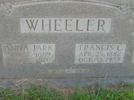 WHEELER, ANNA PARK - Boone County, Arkansas | ANNA PARK WHEELER - Arkansas Gravestone Photos