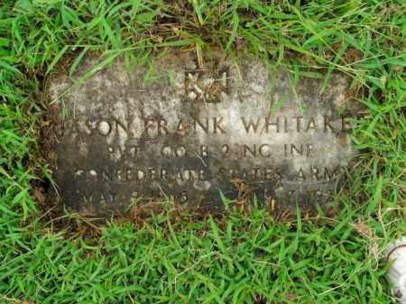 WHITAKER  (VETERAN CSA), JASON FRANK - Boone County, Arkansas | JASON FRANK WHITAKER  (VETERAN CSA) - Arkansas Gravestone Photos