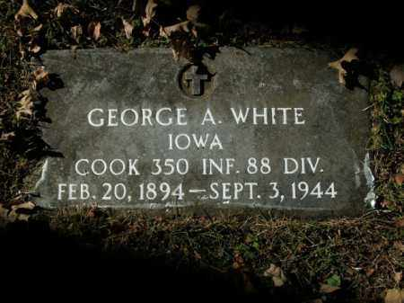 WHITE  (VETERAN), GEORGE A - Boone County, Arkansas | GEORGE A WHITE  (VETERAN) - Arkansas Gravestone Photos