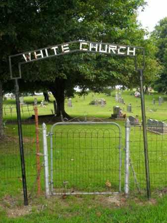 *WHITE CHURCH ENTRANCE,  - Boone County, Arkansas    *WHITE CHURCH ENTRANCE - Arkansas Gravestone Photos