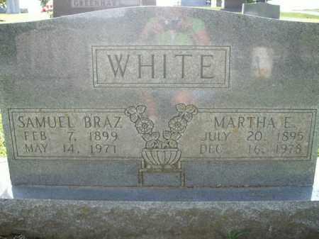 WHITE, SAMUEL BRAZ - Boone County, Arkansas | SAMUEL BRAZ WHITE - Arkansas Gravestone Photos