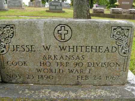 WHITEHEAD  (VETERAN WWI), JESSE W - Boone County, Arkansas   JESSE W WHITEHEAD  (VETERAN WWI) - Arkansas Gravestone Photos