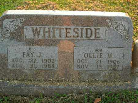 WHITESIDE, FAY J. - Boone County, Arkansas | FAY J. WHITESIDE - Arkansas Gravestone Photos