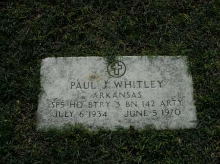 WHITLEY  (VETERAN), PAUL J. - Boone County, Arkansas | PAUL J. WHITLEY  (VETERAN) - Arkansas Gravestone Photos