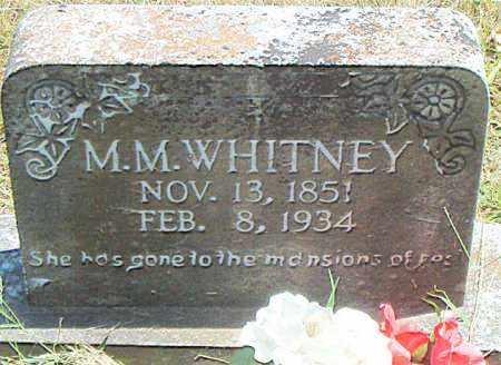 WHITNEY, M.  M. - Boone County, Arkansas | M.  M. WHITNEY - Arkansas Gravestone Photos