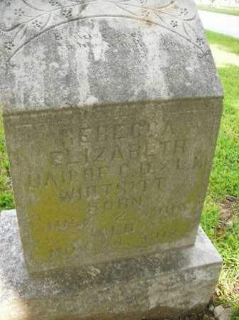 WHITSITT, REBECCA ELIZABETH - Boone County, Arkansas | REBECCA ELIZABETH WHITSITT - Arkansas Gravestone Photos