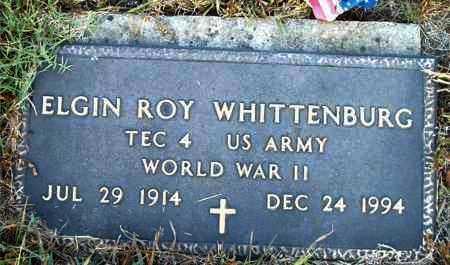WHITTENBURG  (VETERAN WWII), ELGIN ROY - Boone County, Arkansas | ELGIN ROY WHITTENBURG  (VETERAN WWII) - Arkansas Gravestone Photos