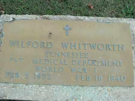 WHITWORTH  (VETERAN WWI), WILFORD - Boone County, Arkansas | WILFORD WHITWORTH  (VETERAN WWI) - Arkansas Gravestone Photos