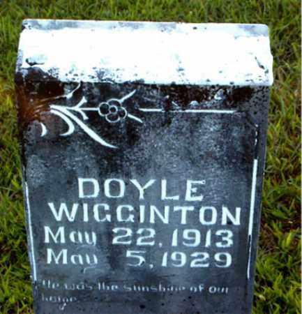 WIGGINTON, DOYLE - Boone County, Arkansas | DOYLE WIGGINTON - Arkansas Gravestone Photos