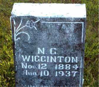 WIGGINTON, N.  G. - Boone County, Arkansas   N.  G. WIGGINTON - Arkansas Gravestone Photos