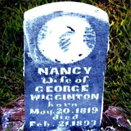 WIGGINTON, NANCY - Boone County, Arkansas | NANCY WIGGINTON - Arkansas Gravestone Photos