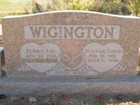 WIGINGTON, NORMAN DAVID - Boone County, Arkansas   NORMAN DAVID WIGINGTON - Arkansas Gravestone Photos