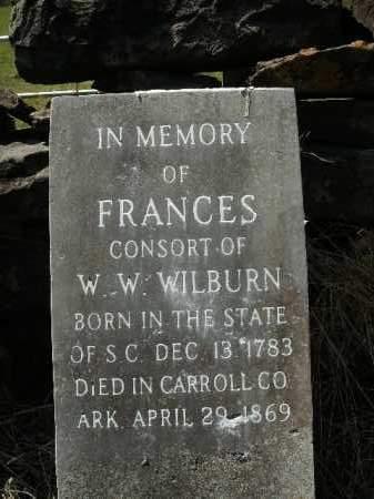 WILBURN, FRANCES - Boone County, Arkansas | FRANCES WILBURN - Arkansas Gravestone Photos