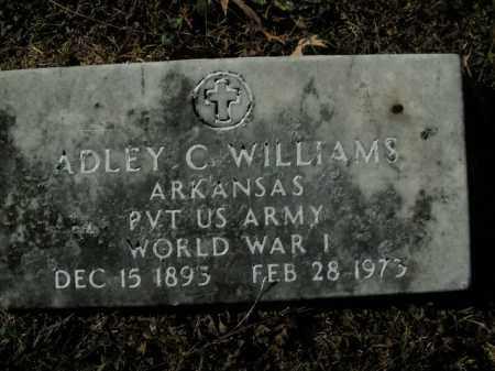 WILLIAMS  (VETERAN WWI), ADLEY C - Boone County, Arkansas   ADLEY C WILLIAMS  (VETERAN WWI) - Arkansas Gravestone Photos