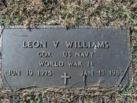 WILLIAMS  (VETERAN WWII), LEON V - Boone County, Arkansas   LEON V WILLIAMS  (VETERAN WWII) - Arkansas Gravestone Photos